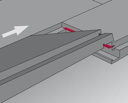 Verlegung mit Top Connect Schritt 1: einwinkeln