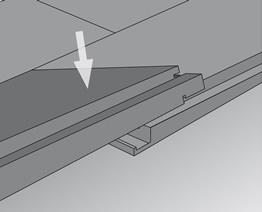 Verlegung mit Top Connect Schritt 2: andrücken & verriegeln