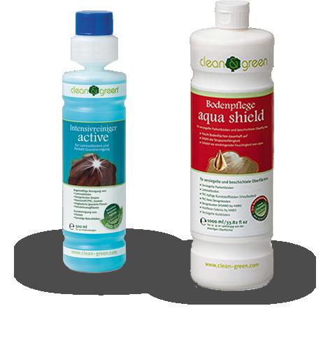clean & green Reinigungs- und Pflegeprodukte für Living by HARO Laminat