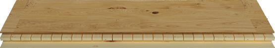 Living by HARO Parkett 3-Schicht Aufbau mit Fichte-Massivholzstäbchen