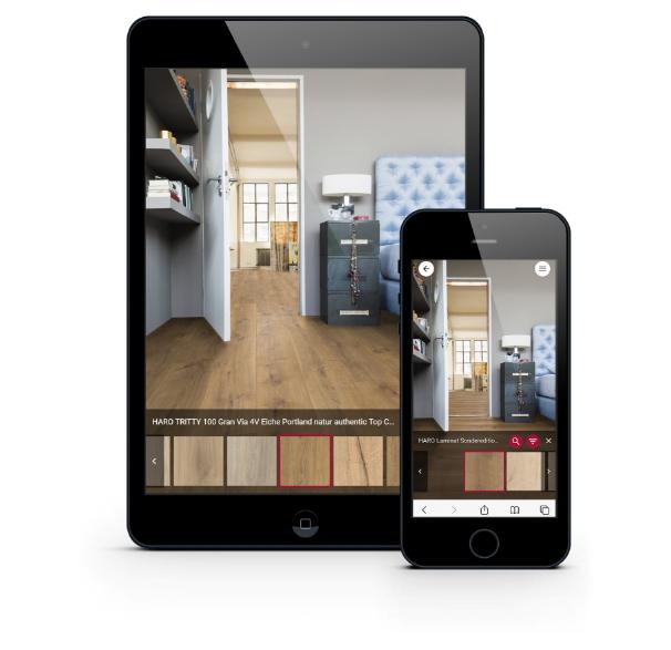 Der Room Visualizer unterstützt Sie bei der Suche nach Ihrem Wunschboden.